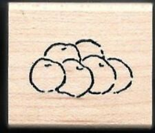 APPLES Fruit Nature Food Landscape ART IMPRESSIONS AA-3290  wood RUBBER STAMP