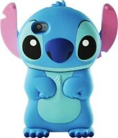 New 3D Cartoon Blue Stich Cute Silicone Soft Back Cover Case for Apple iPhone