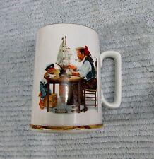 1985 Norman Rockwell Museum For A Good Boy Porcelain Mug Ship Captain Free S/H