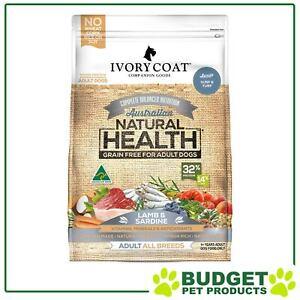 Ivory Coat Natural Health Grain Free Lamb Sardine Adult Dry 13kg