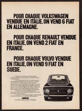 1972 FIAT 124 Vintage Original Print AD Black car photo French Canada world sale