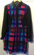 womens clothes - Love Label Bright Coloured Shirt Dress -BNWT - Size 14