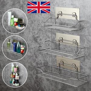 Stainless Steel Non Rust Bathroom Shower Shelf Storage Suction Basket Tidy Caddy