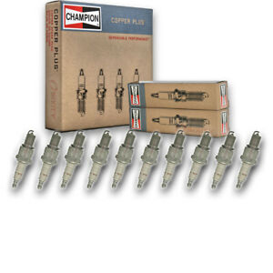 10 pc Champion 301 Copper Plus Spark Plugs for RN9YC4 Ignition Secondary  xv