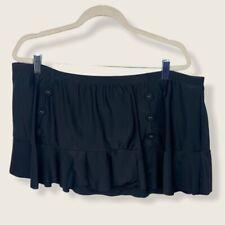 New listing Torrid Black Button Front Swim Skirt Ruffle Womens Size 3X Plus Long Layer Retro