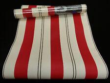 Tapeten beige Wish 05617-80 Tapete Papier Streifen creme braun rot