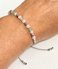 Just Gemstones Aventurine, Moonstone, Lepidolite & Rose Quartz Reki Bracelet