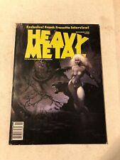 HEAVY METAL NOVEMBER 1990 FRANZ FRAZETTA COVER