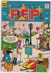 Archie Series, PEP, No 263, March 1972, Archie & Jughead Gang Antics —  BX02