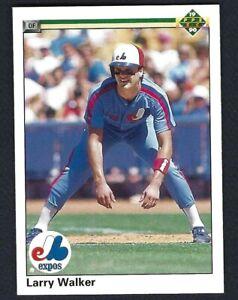 1990 Upper Deck LARRY WALKER RC Rookie Card 466 Expos HOF