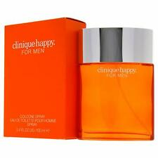 Clinique Happy Cologne Spray Eau de Toilette for Men Perfume 100 ml/3.4 Oz New
