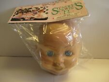 1 - Syndee's Crafts Large Sandi w/Blue Eyes Doll Head #01114 New In Package