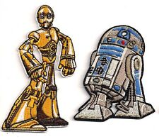 "Star Wars Animated Droids R2-D2 & C-3PO Patch Set of 2- 3"" to 4"" (SWPA-34/35)"