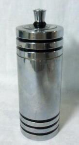 Art Deco Chrome Chase Cocktail Shaker