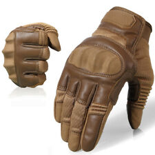 Touchscreen PU Leather Motorcycle Full Finger Gloves Protective Gear Racing Bike