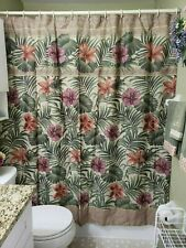 New Springs Flowers Floral Fabric Shower Curtain