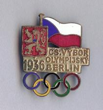 Rare Official Czechoslovakia  Czechoslovak Olympic Committee badge BERLIN 1936