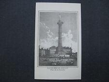 affiche gravure : La colonne de juillet Place de la Bastille