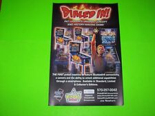 Dialed In Original Pinball Machine Color Art Ready To Frame Poster Signed NEW