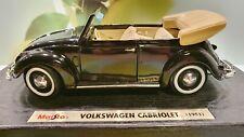 Modellauto 1:18 VW Käfer 1951 schwarz Cabrio Maisto Metall DieCast - TOP - neu