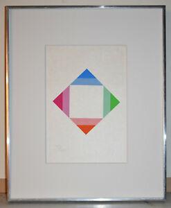 Listed Swiss Artist MAX BILL, Original Signed Color Serigraph Print 1979
