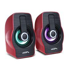 Computer luidsprekers 6W USB 2.0 Zwart / Rood Audiocore AC855 R speakers
