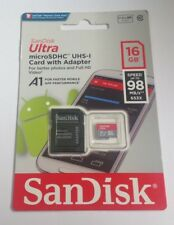 SANDISK ULTRA microSDHC UHS-1 card with adapter 16GB speed upto 98 MB/s** 653X