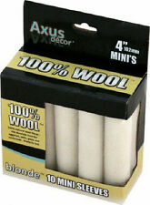 "10 x 4"" Axus Decor 100% Wool Mo-Hair Mini Paint Radiator Rollers AXU/RBLN410"