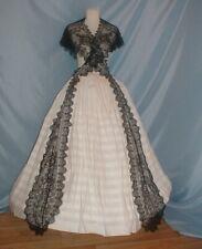 Antique Dress Victorian 1860's Cluny Lace Pelerine Collar Provenance