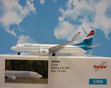 1/500 Herpa Luxair Boeing 737-800 528436