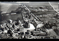 BALLANCOURT (91) STADE de FOOTBALL , VILLAS & EGLISE en vue aérienne vers 1950
