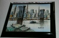 New York Brooklyn Bridge Manhattan Skyline Duchamp MCM