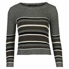 ONLY Toulouse Crew Womens Jumper Top Sweater Ladies Blouse Stripe Knitted A141-3