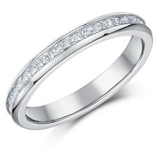 Ladies Eternity Created Diamonds Titanium Wedding Engagement Band Ring- 3mm