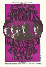 MINT Yardbirds Jimmy Page Jeff Beck 1966 BG 33 Fillmore Poster