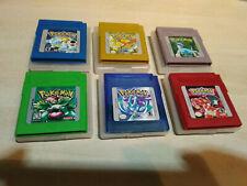 7 juegos Game Boy pokemon, azul, verde, amarillo, rojo, Plata, Cristal, español