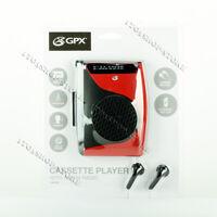 GPX Cassette Player & Recorder w/AM FM Radio Compact Size Stereo Speaker Walkman