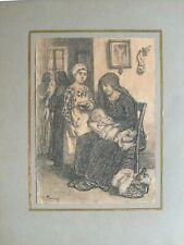 """RARE """" Scène de genre """", par Emile TRONCY, élève de  Bouguereau, Cabanel . . ."""