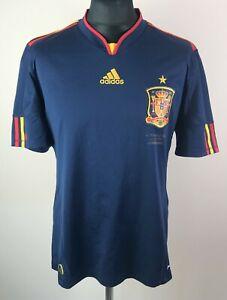 Spain 2010/2011 Spain vs Netherlands ADIDAS Away Football Shirt Men's Size L