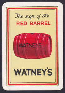 Watneys Red Barrel Brewery,1930c Single playing Card