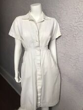 50's/60's Vintage White Cotton Waitress Uniform Dress Med.