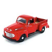 1948 Ford F-1 Pickup Truck Red 1:24 Diecast Vehicle Maisto 34935
