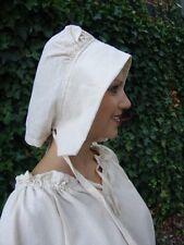 Edad Media SIRVIENTA Capucha Sombrero Natural Blanco