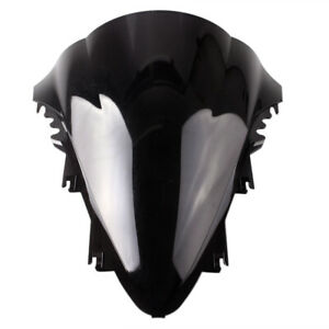 Windshield Wind Screen Double Bubble Smoke Dark Fit for Yamaha YZF R1 2007-2008