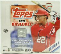 2021 Topps Series 1 Hobby JUMBO Baseball Factory Sealed Unopened Box ~ 10 Packs