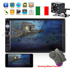 "7"" 2 DIN AUTORADIO Lettore MP5 BLUETOOTH TOUCH SCREEN MIRROR LINK + Telecamera"