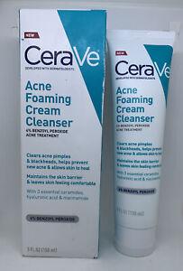 CeraVe Acne Foaming Cream Cleanser for Face  5 fl oz Large EXP 2023 NIB