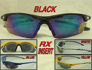 RX Adaptable Wrap Around  Cycling Sports Sunglasses Prescription Insert Optional