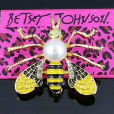 Women Men Fashion Lovely Cute Bee Betsey Johnson Brooch Pin Jewelry Gifts