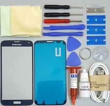 Samsung Galaxy S5 Replacement Screen Front Glass Repair Kit BLUE